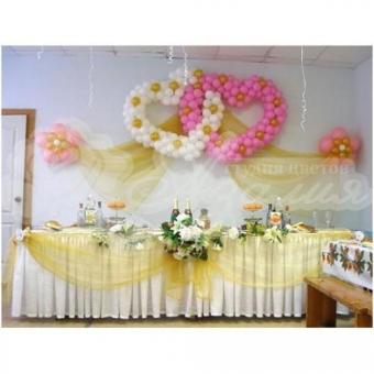 Оформление шарами на свадьбу «Комплект № 26»