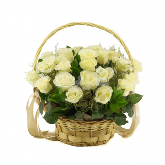 Шикарная корзина роз