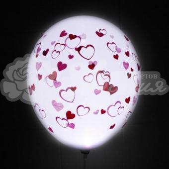 Светящийся шар с сердечками